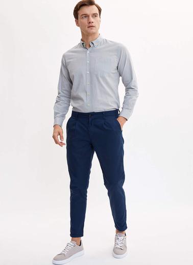 DeFacto Basic Modern Fit Gömlek Gri